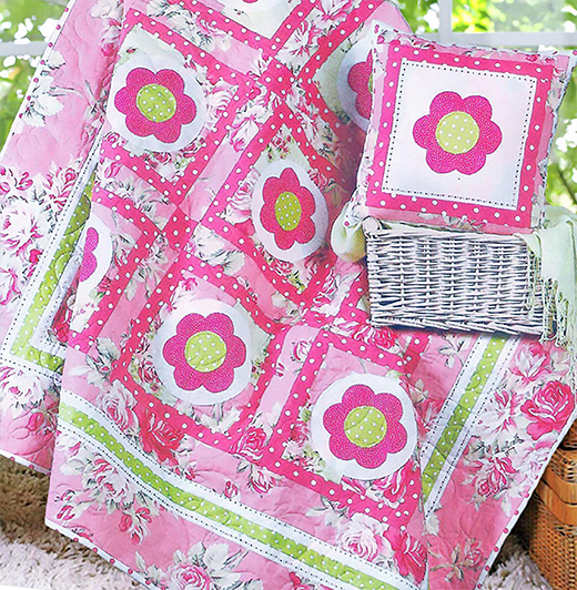 Sweet Nothings Quilt Free Pattern Designed by The Red Boot Quilt Company