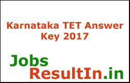 Karnataka TET Answer Key 2017