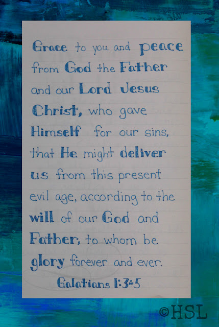 Galatians 1:3-5, Scripture Writing