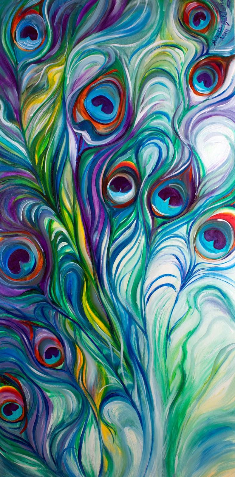 Peacock Art Canvas