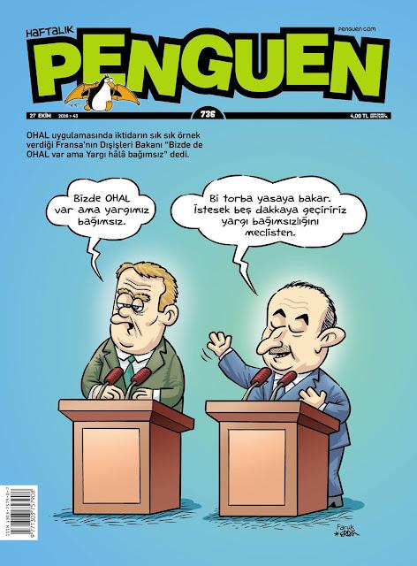 Penguen Dergisi | 27 Ekim 2016 Kapak Karikatürü
