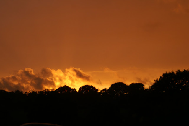 Normandy late summer sunset