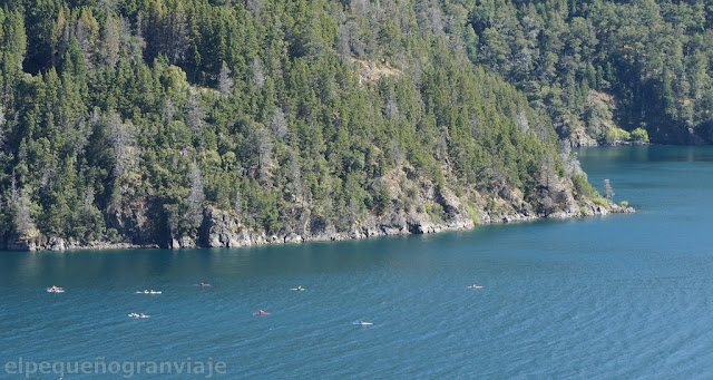 Lago Lacar, Kayak