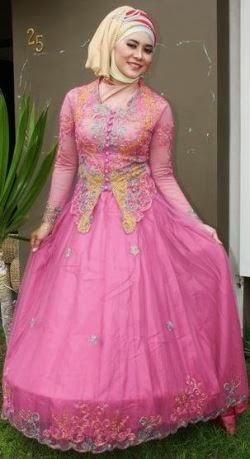 Model kebaya muslim untuk wanita berbadan gemuk