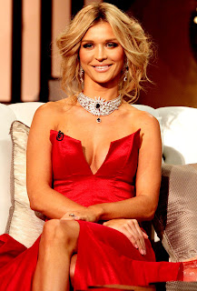 Joanna Krupa Deep Cleavage Show With Smile