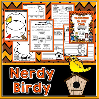 Nerdy Birdy is a wonderful book to use for community building. Students learn to celebrate uniqueness and inclusivity.