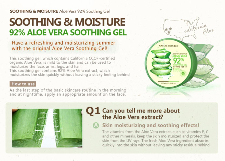 Nature Republic Aloe Vera Gel Beautybyrah 92 Image From The Website