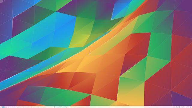 Kubuntu 15.10のデスクトップ。デスクトップ環境はKDEです。
