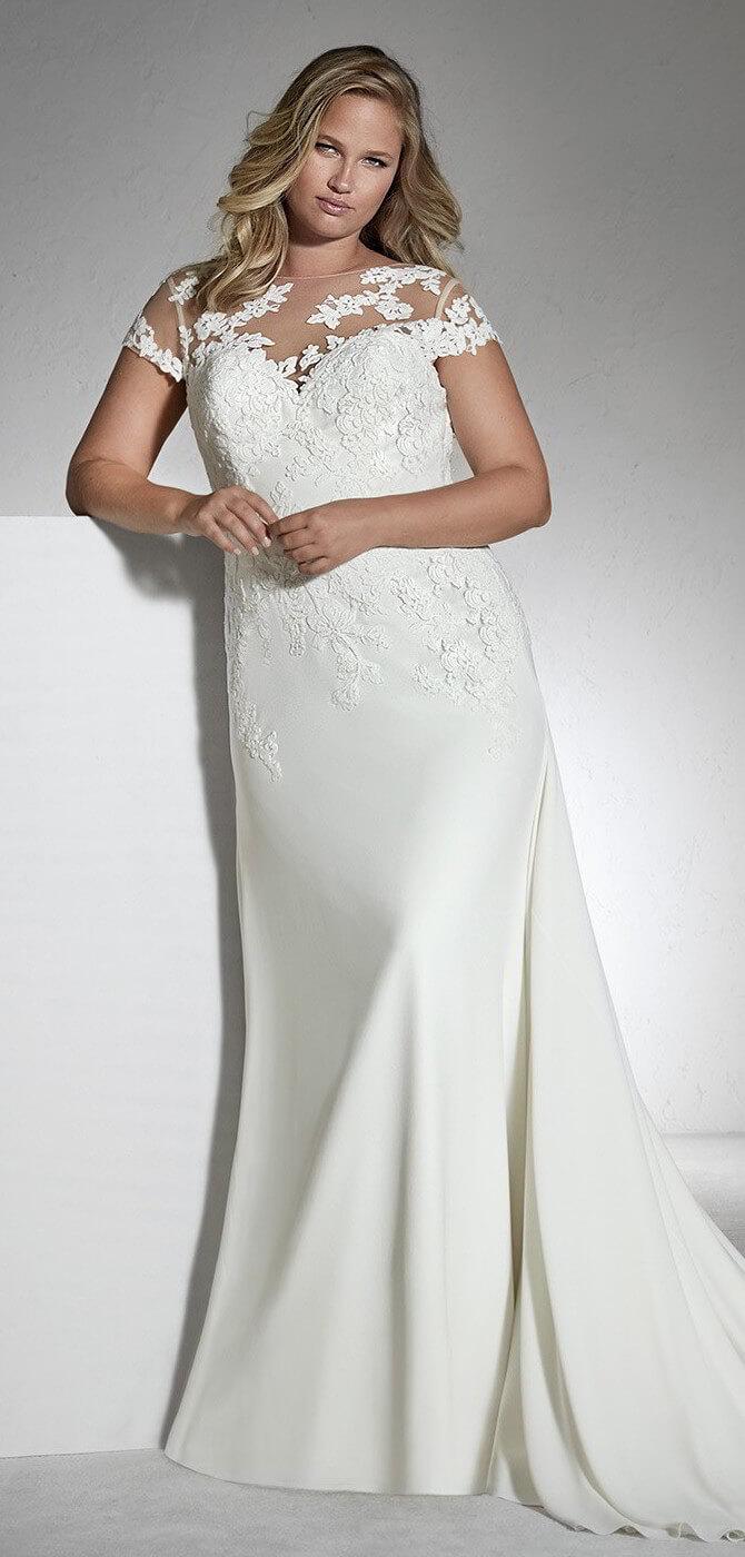 67ab93089bc White One 2018 Plus Size Wedding Dresses - World of Bridal