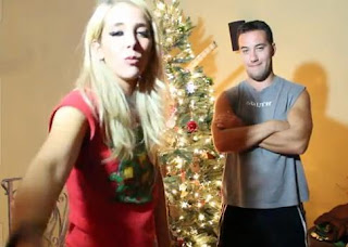 Jenna Marbles drunk Christmas tree decorating