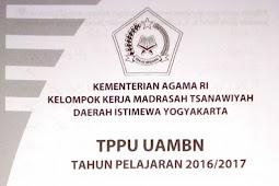 Soal TPPU UAMBN MTS DIY 2017 – Bahasa Arab