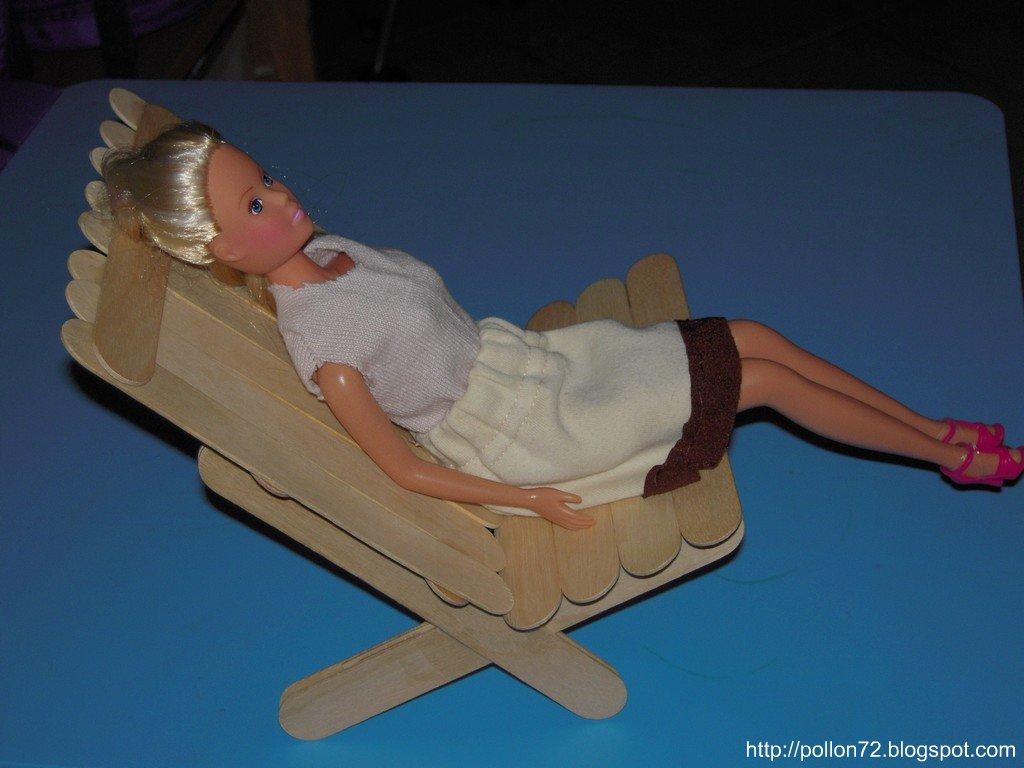 Costruire Sdraio In Legno.Mamma Claudia E Le Avventure Del Topastro Sdraio Per Barbie In
