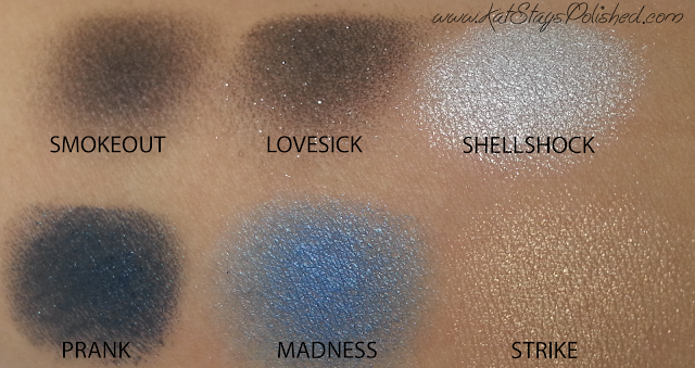 Urban Decay - Vice 2 Palette - SMOKEOUT-LOVESICK-SHELLSHOCK-PRANK-MADNESS-STRIKE