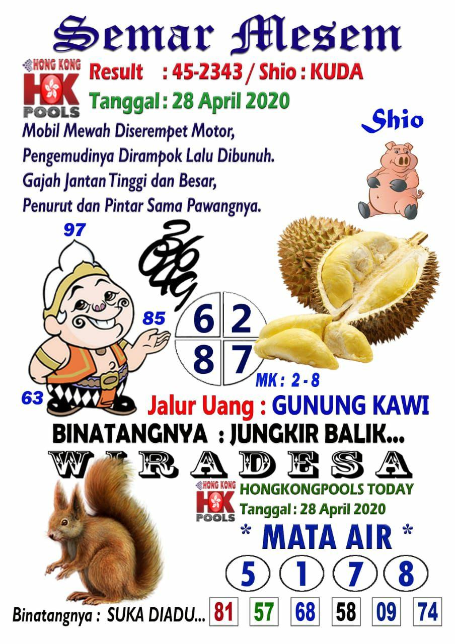 Semar mesem hk 28 april 2021