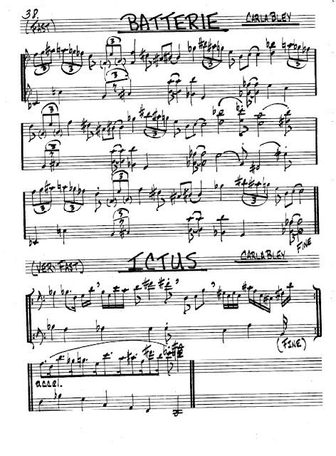 Partitura Violonchelo Carla Bley