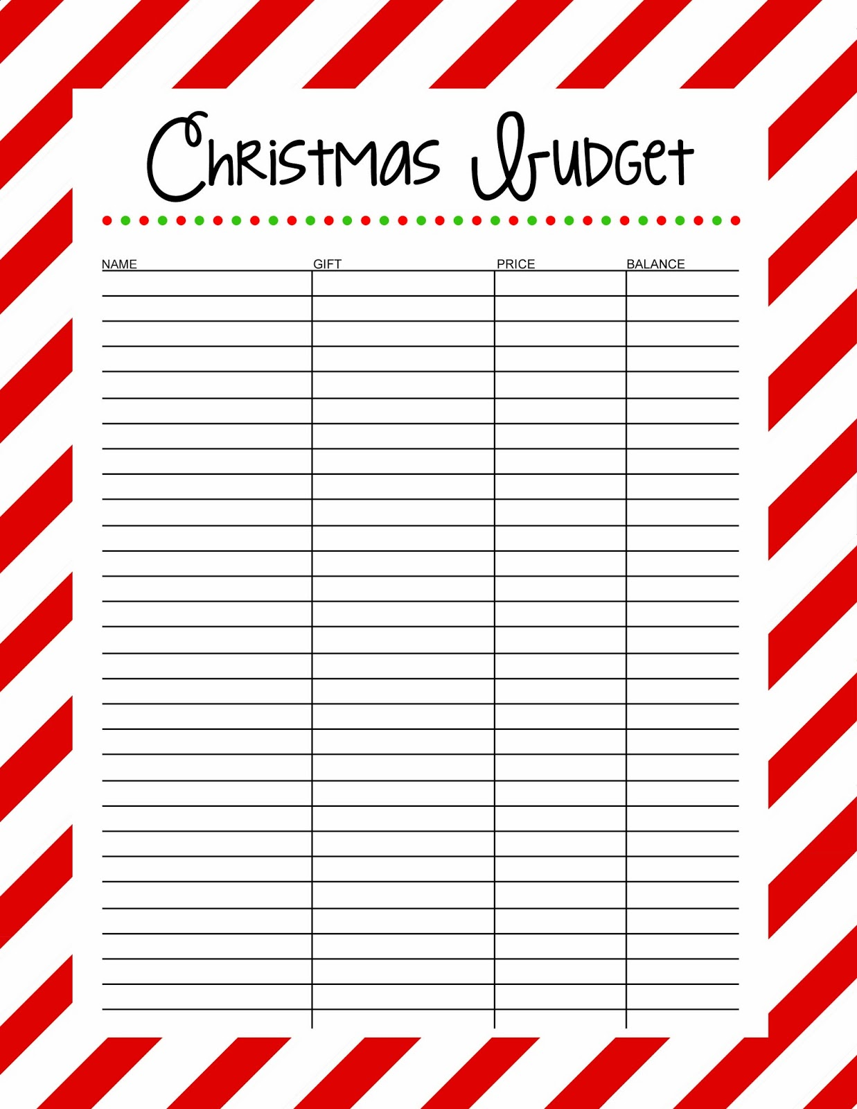 Christmas Budget Free Printable 25 Days To An Organized