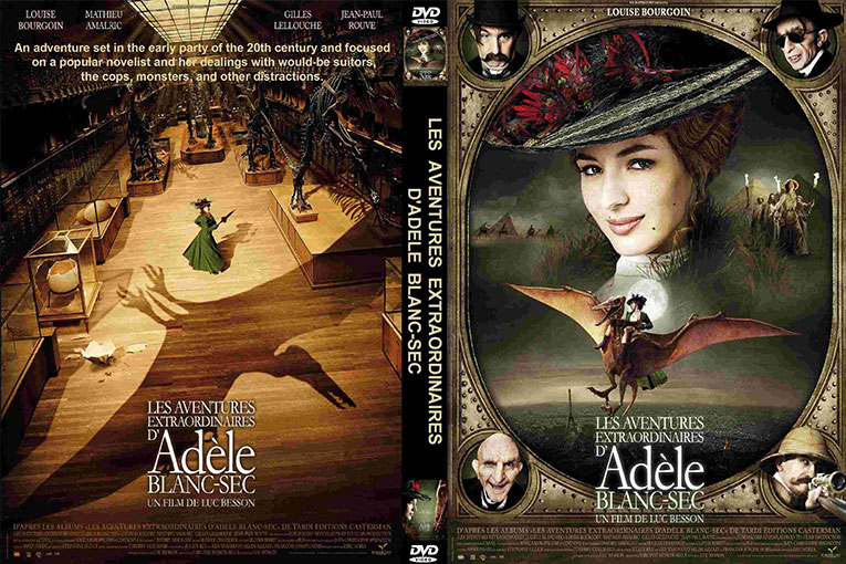 The Extraordinary Adventures of Adèle Blanc-Sec (2010) 720p BrRip [Dual Audio] [Hindi+French]