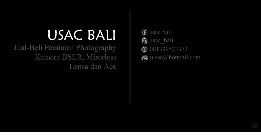 JUAL BELI PERALATAN PHOTOGRAPHY DI BALI