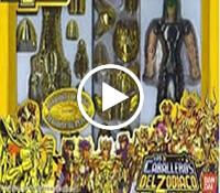 Propaganda da coleção dos bonecos 'Os Cavaleiros do Zodíaco, veiculada nos anos 90.