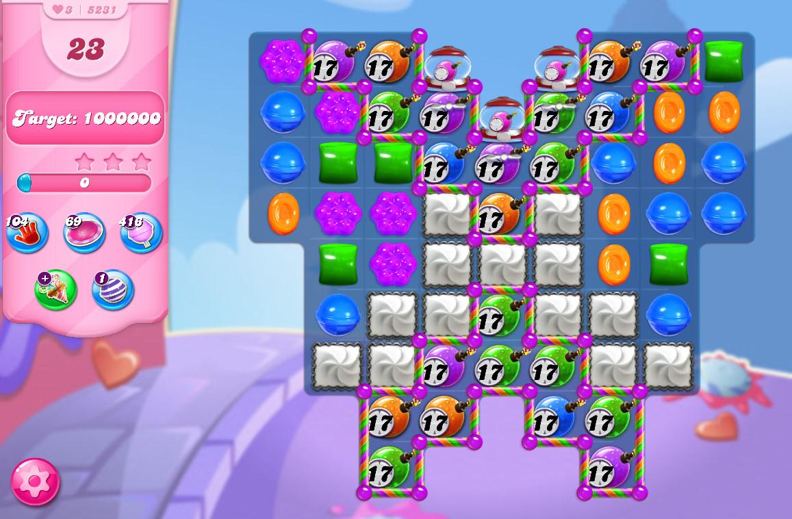 Candy Crush Saga level 5231