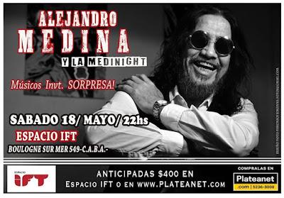 Hoy toca Alejandro medina. Sábado 18 /mayo /22HS