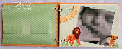 livro de mensagens personalizado safari rei leão