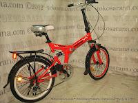 Sepeda Lipat Exotic 20-2030 Suspensi 20 Inci