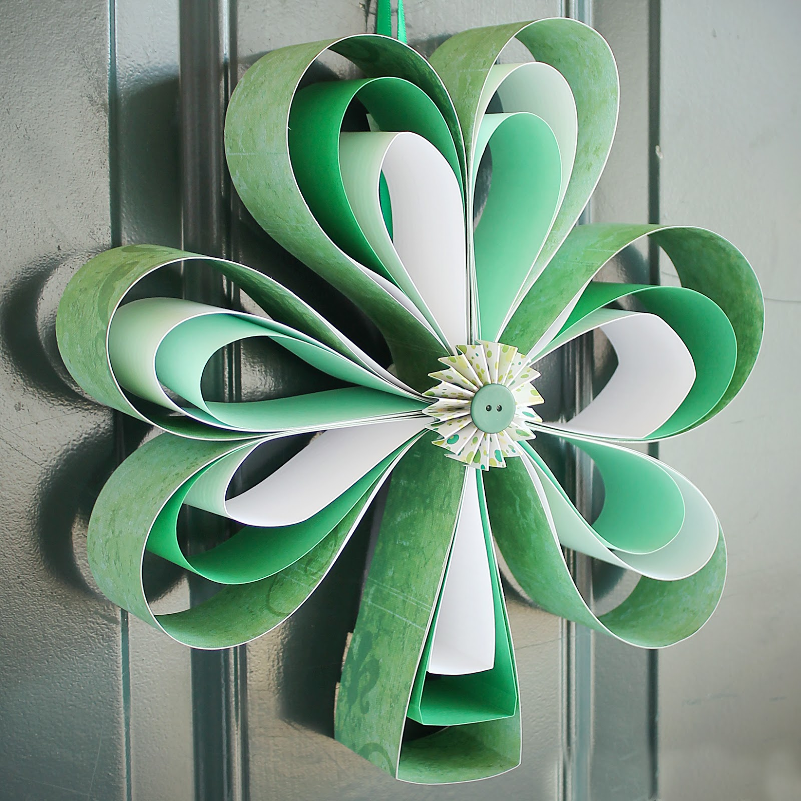 Shamrock Paper Wreath