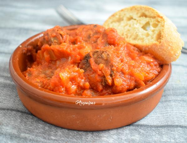 Morcilla Caraja con Tomate