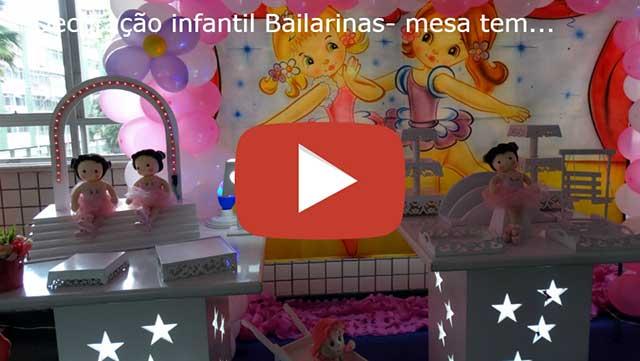 Vídeo decoração infantil Bailarinas