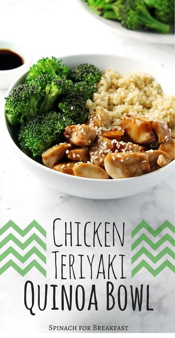 Chicken Teriyaki Quinoa Bowl