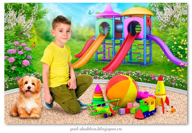 коллаж детский сад