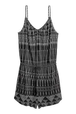 wzorzysty kombinezon etno boho wyprzedaż w H&M co kupić wirtualna stylistka