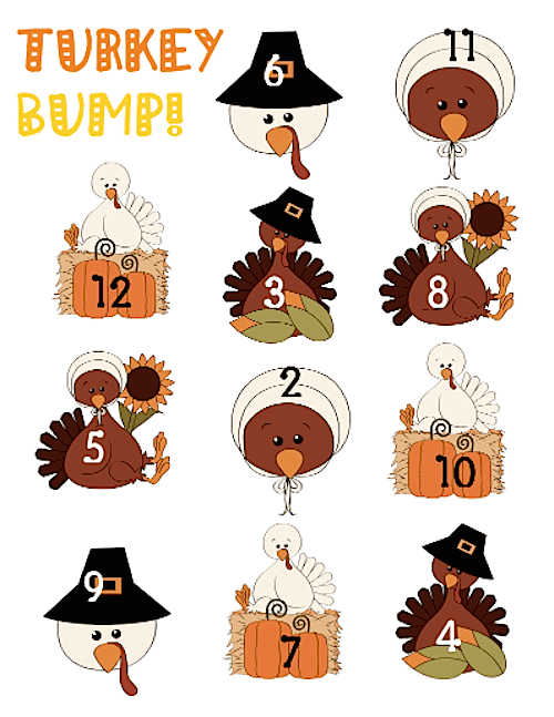 Turkey Bump game for First Grade