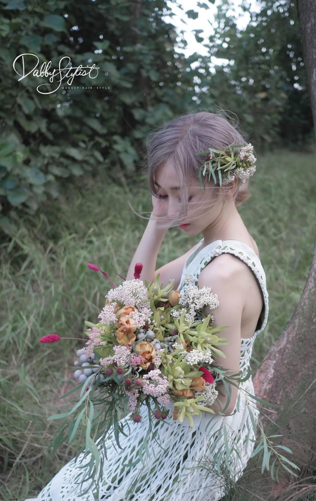 新娘捧花,鮮花花飾,手作花物, 台中新秘, 新娘秘書, 新秘阿桂Dabby, 新秘推薦,