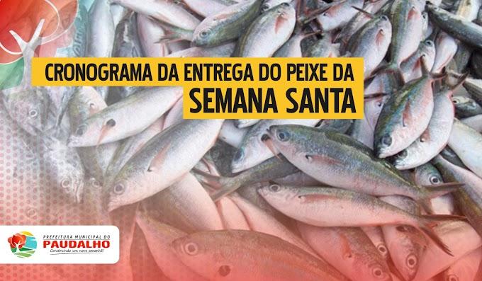 Prefeitura do Paudalho divulga cronograma da entrega de peixe da Semana Santa