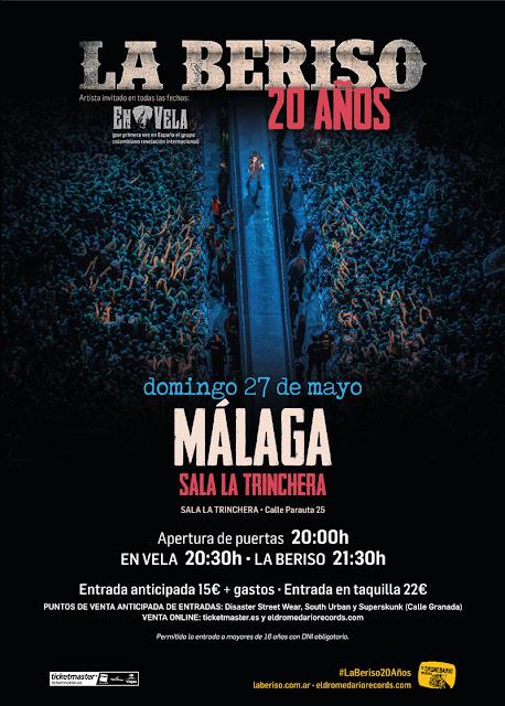 Concierto de La Beriso en Málaga