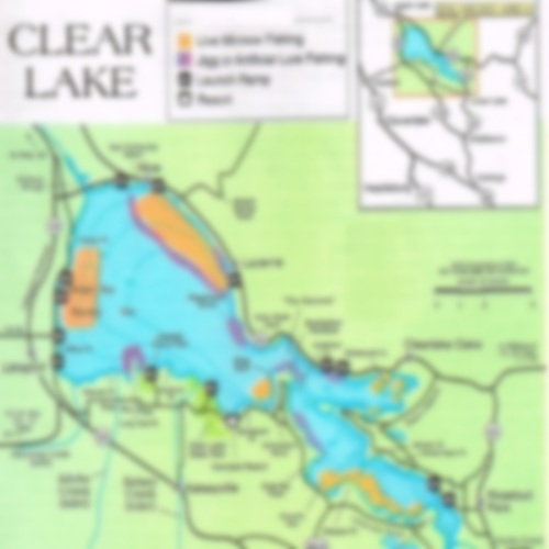2019 Clear Lake Map, Report, and where to fish Clear ... on