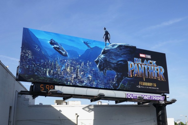Black Panther special cut-out billboard