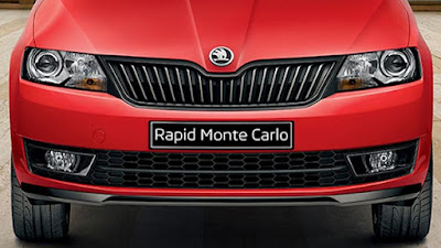2017 Skoda Rapid Monte Carlo front angle image