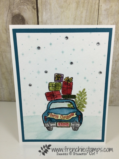 Wonderful Life, Night in Bethlehem, Watercolor, Stampin'Up!, Christmas Card
