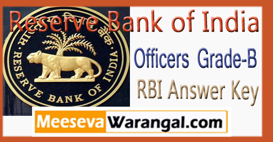 RBI Officers Grade-B Answer Key 2018 Expected Cut Off
