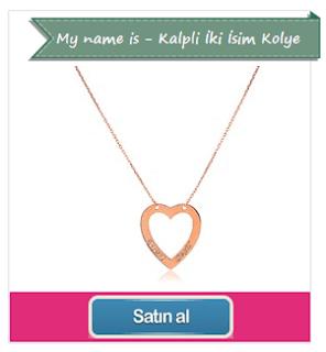 My name is Kalpli İki İsim Kolye