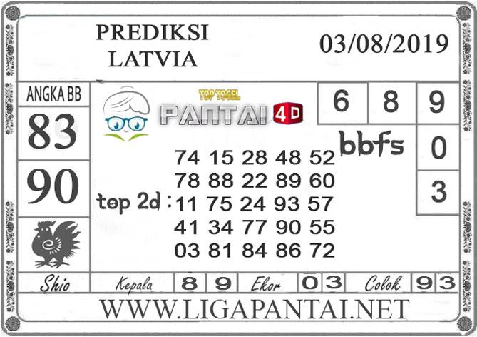 "PREDIKSI TOGEL ""LATVIA"" PANTAI4D 03 AGUSTUS 2019"
