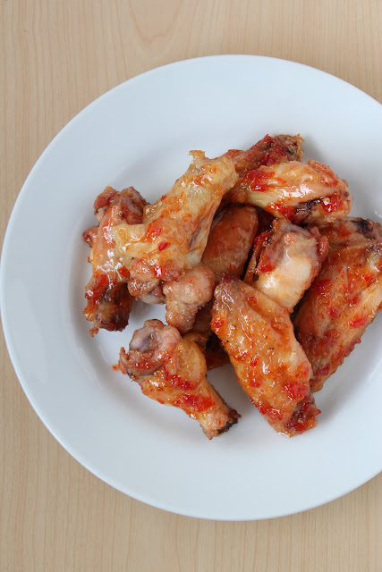 Make these sweet chili chicken wings in the oven. They are soooo good!