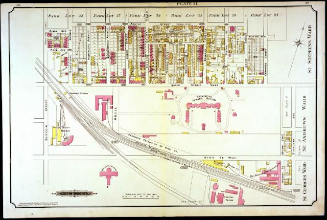 Plate 21, Goad's Atlas of the City of Toronto, 1884