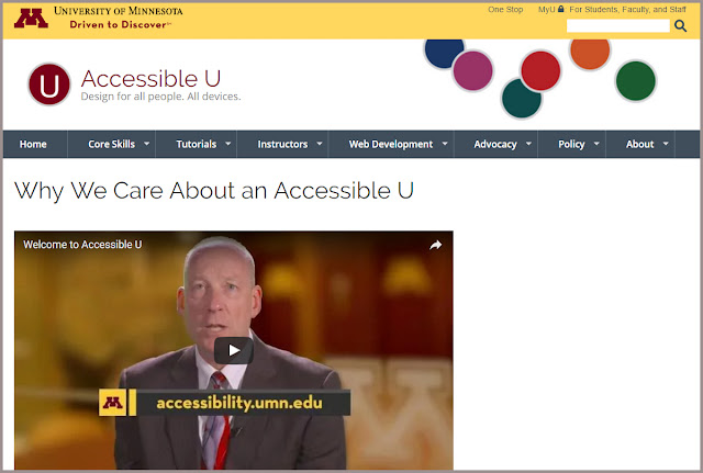screenshot: accessibility.umn.edu
