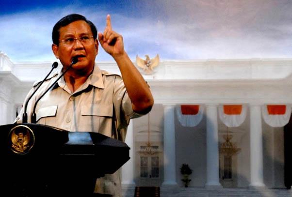 Dewan Pengurus Pusat Partai Gerindra Prabowo Subianto