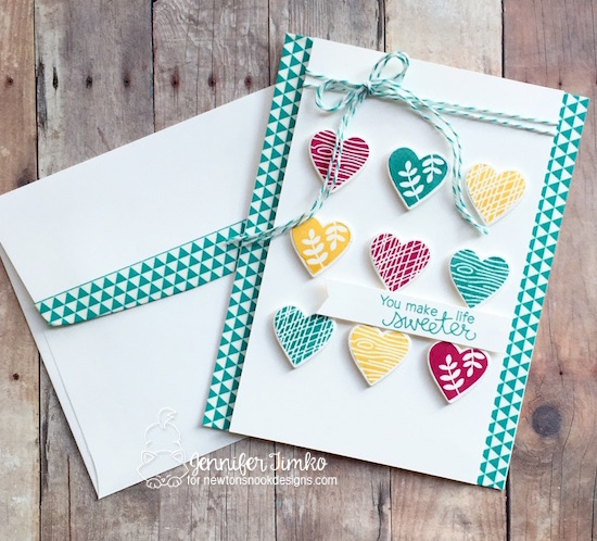 You Make Life Sweeter Card by Jennifer Timko | Woodland Duos stamp set by Newton's Nook Designs #newtonsnook