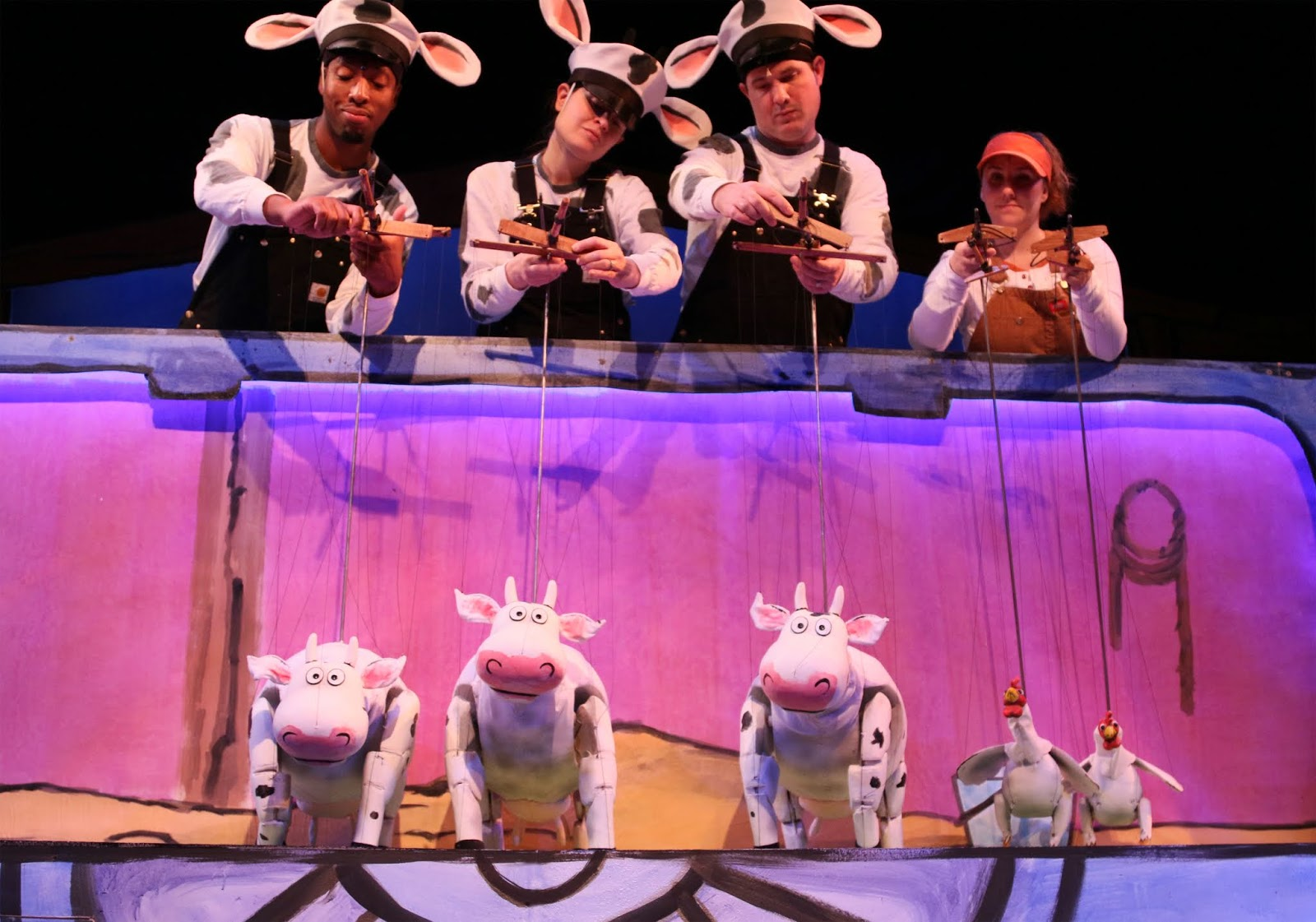 Escape All the Atlanta Rain and See Click, Clack, Moo: Cows That Type at the Center for Puppetry Arts  via  www.productreviewmom.com